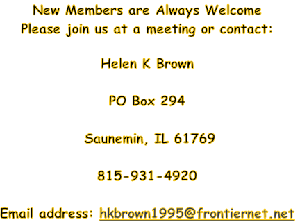 New Members are Always Welcome